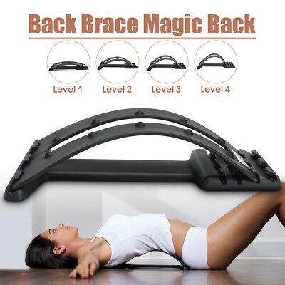 Hot Back Lumbar Support Muscle Stretcher Posture Corrector Pain Relief Sciatica