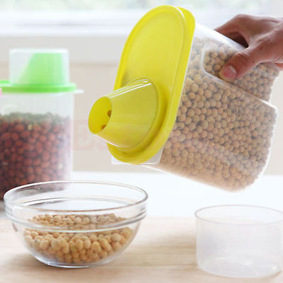 Dried Rice Food Cereal Flour Pasta Dispenser Container Beans Storage Sealed Box