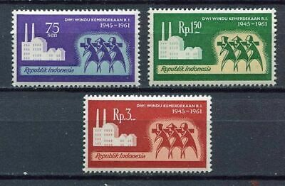 38164) INDONESIA 1961 MNH** Independence day 3v
