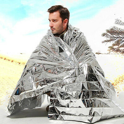 Portable Folding Outdoor Camping Insulation Emergency Blanket Mylar Thermal Heat