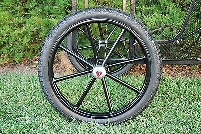 """Pair Horse Cart Motorcycle Tire and Rim 2.50""""-18"""", 5/8"""" or 3/4"""" Axle - NIB"""