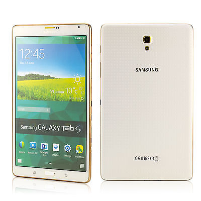 "Dummy mobile phone tablet Samsung Galaxy Tab S 8.4"" inch replica model - White"
