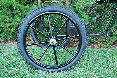 """Pair Horse Cart Motorcycle Tire and Rim 3.00""""-25"""", 5/8"""" or 3/4"""" Axle - NIB"""