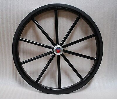 """24"""" Pair of Solid Rubber Tires for Easy Entry style Horse carts"""