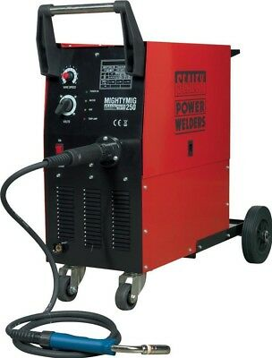 Sealey Professional Gas/No-Gas MIG Welder 250Amp with Euro Torch