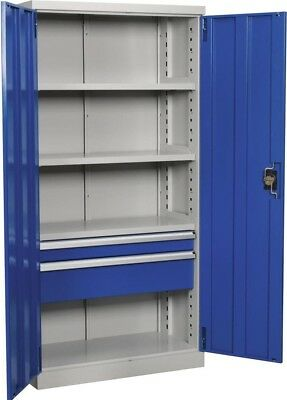 Sealey Industrial Cabinet 2 Drawer 4 Shelf 1800mm APICCOMBO2