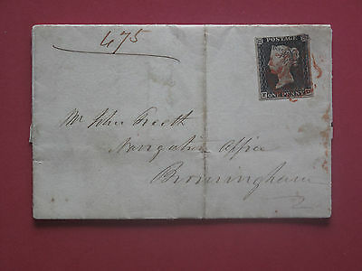 Lot #2936 Victoria 1840 1d Black Red Maltese Cross 3 Margins Plate 2 Used SG2