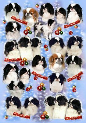 Japanese Chin Dog Christmas Wrapping Paper Design by Starprint