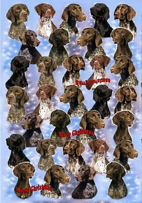 German Shorthaired Pointer Dog Christmas Wrapping Paper Design by Starprint