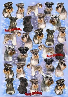Miniature Schnauzer Dog Christmas Wrapping Paper Design by Starprint
