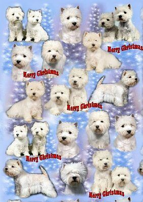 West Highland White Terrier Dog Christmas Wrapping Paper Design by Starprint