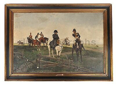 Napoleon Bonaparte - 19th Century Framed Oil Painting by Jacques Monteil