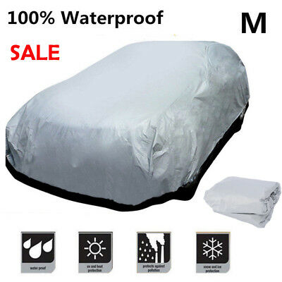 Universal Medium M Full Car Cover UV Protection Waterproof Breathable Outdoor UK