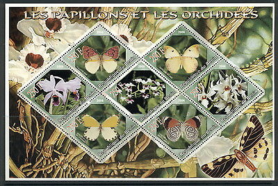 Benin Butterflies Schmetterlinge Insects Papillons 8val MNH stamp sheet