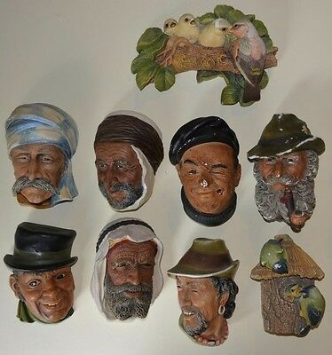 Vintage 1960's/1970's Bossons Chalkware Wall Plaques Joblot x 10