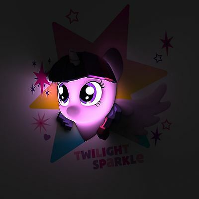 My Little Pony Crepuscolo Luccicante 3D Luce A Parete Notturna Cameretta Bambini