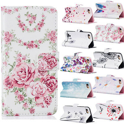 Fashion Wallet Card PU Leather Soft Case Cover For iPhone 5 6 7 plus Samsung