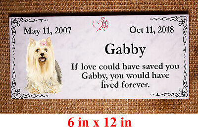 "Custom Pet Memorial Grave Marker 10""x5"" Headstone Stone Plaque Dog Cat Horse"