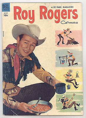 Roy Rogers Comics #75 VGFN Photo Cover