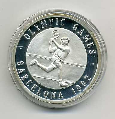 Medaille Olympic Games Barcelona 1992 Tennis Silber M_883