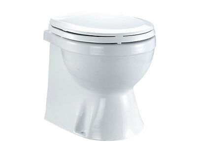 Electric Marine Toilet Medium Size Home Type for Boats and TVs-12V-Five Oceans