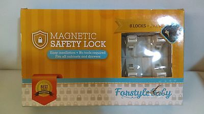 Baby-Proof Magnetic Cabinet Locks by Forstyle Safety - No Tools or Screws Needed