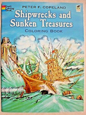 Dover SHIPWRECKS AND SUNKEN TREASURES Peter F. Copeland Adult Coloring Book