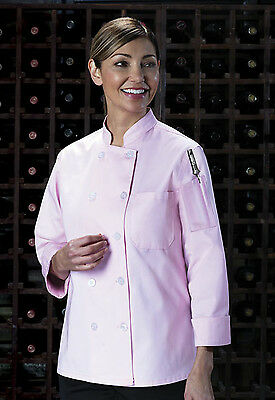 Pink Dickies Women's Executive Chef Coat DC414 PINK