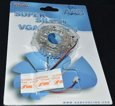 Super silent Fan Vga Cooler Graphics Card 20 db Heat downn over heat