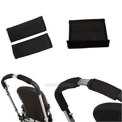 Wholesale 1 Pair Baby Black Pram Stroller Carriage Front Handle Bumper Bar Cover