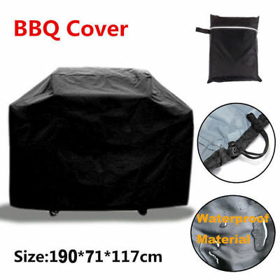 New 75'' Waterproof BBQ Cover Gas Barbecue Grill Protection Patio Outdoor Black