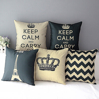 Home Decorative Linen Cotton Blended Cushion Cover Throw Pillow Case Enticing
