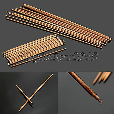 New 11 size Carbonized Bamboo Double Pointed Knitting Needles Smooth Crochet