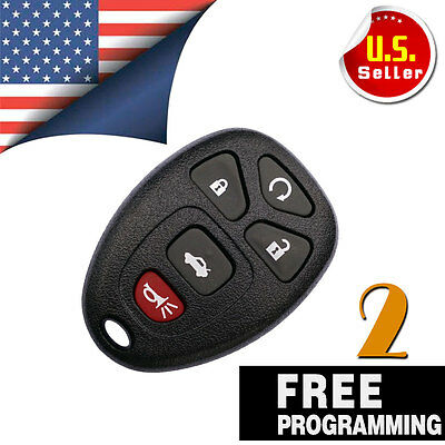 2x Keyless Entry Remote Control Key Fob Replacement for 15912860 OUC60270 buick