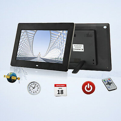 "10"" Digital Photo Frame LED Multi-function Picture Video Player Remote Control"
