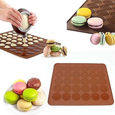 Silicone Pastry Muffin Cake Macaron Oven Baking Mould Mold Sheet Mat MT top