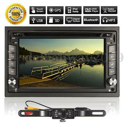 "6.2"" 2Din In-Dash Touch Bluetooth Car Stereo Radio DVD Player GPS SAT NAV+Camera"