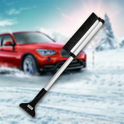 Extendable Snow Ice Scraper Car Window Retractable Shovel Clear Brush Squeegee