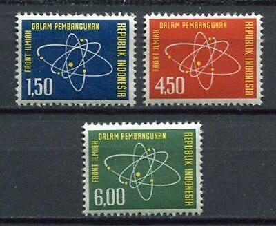 38170) INDONESIA 1962 MNH** Science 3v
