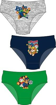 Boys Paw Patrol Briefs Pants Knickers 3 Pack 18-24 Months to 4-5 Years