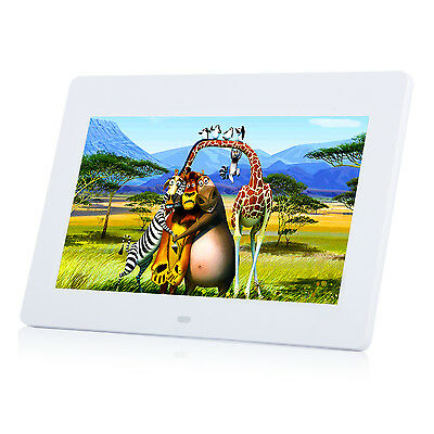 "10"" Digital Photo Frame Picture Video Player Backlight With Remote Control WHI"