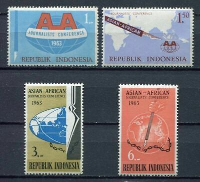38176) INDONESIA 1963 MNH** Journalist conference 4v