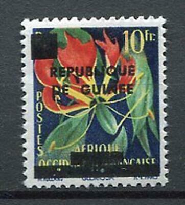 27171) GUINEA 1959 MNH** Nuovi** French West Africa Ovptd flowers