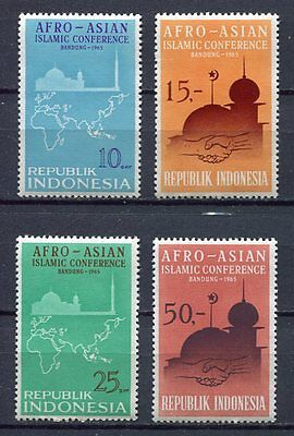 38197) INDONESIA 1965 MNH** Islamic conference 4v