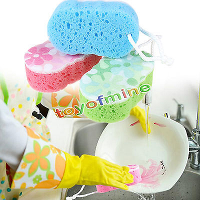 Bath Sponge Massage Multi Shower Exfoliating Body Cleaning Scrubber Rated