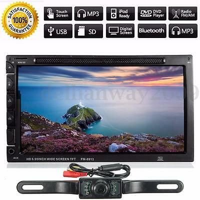7 '' Double 2 Din In Dash Touch Car Stereo Radio DVD MP5 Player Bluetooth+Camera