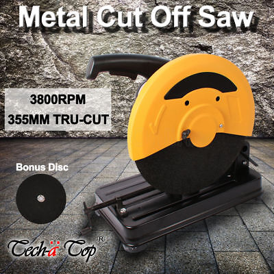 355mm Metal Cut Off Drop Saw Electric Saw Chop Demolition Industrial Cutting NEW