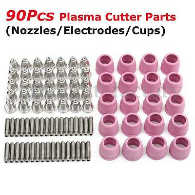 90pcs Plasma Cutter Torch Consumable Tips Electrodes Kit For AG60/SG55/WSD60P
