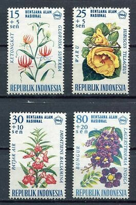 38202) INDONESIA 1966 MNH** Flowers 4v
