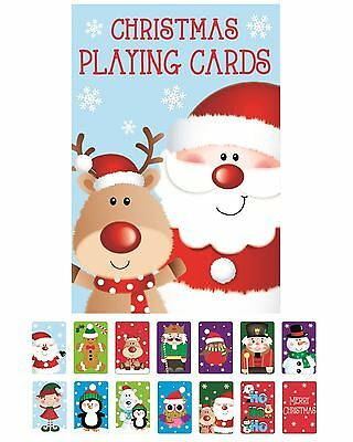 Childrens Christmas Playing Cards Stocking Bag Filler Snap Xmas Toy Family Game